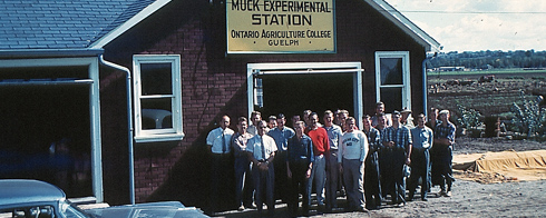 Picture of Muck Crops Research Station from late 1950's